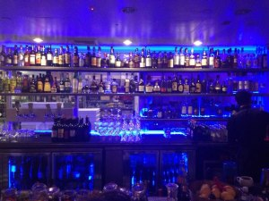 Blue lit bar