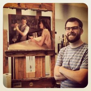 Matt with his work!